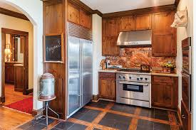 copper backsplash kitchen copper backsplash in the kitchen the cottage journal