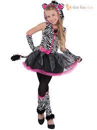 Kids Halloween Cat Costume Age 8 16 Girls Teen Sassy Stripes Cat Zebra Halloween Fancy Dress