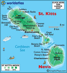 map of st st kitts and nevis map geography of st kitts and nevis map