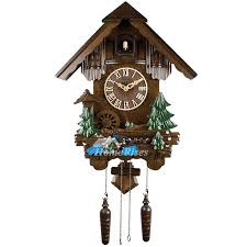 wall clocks cuckoo telling time wood 20 inch living room painting