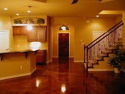 painted concrete floor ideas stained concrete basement floor