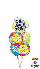 get well soon balloons same day delivery get well soon foil bouquet wham bam balloon