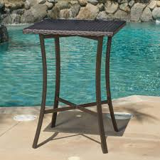 cait brown outdoor wicker bar table u2013 gdf studio