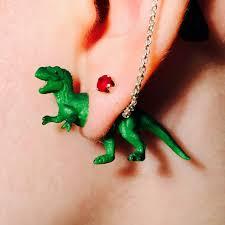 t rex earrings t rex faux stud earrings