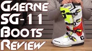 gaerne motocross boots gaerne sg 11 boot review from sportbiketrackgear com youtube