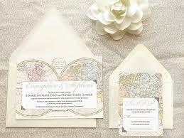 old world map travel wedding invitations destination wedding