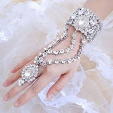 crystal ring bracelet images Bella fashion luxury teardrop bridal bangle ring set austrian jpg