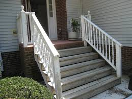 wood front porch steps classic step designs pecan dma homes 35800