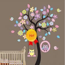 2013 New Removable Room Decor Baby Room Tree Birds Owls Design Diy