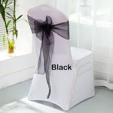 chair sash rental csr100b black organza chair sash rental service hehdeal sg