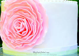 how to make a fondant ruffle rose free cake tutorial my cake