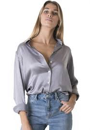 grey silk blouse satin pearl grey charmeuse silk boyfriend shirt camixa