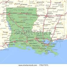 louisiana map city names louisiana map shows state borders stock vector 779177071