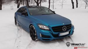 blue mercedes mercedes benz cls electric blue brabus by wrapstyle mercedes