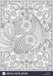 splendid coloring page elegant peacock is showing off its
