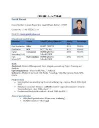 Sample Resume For Bank Jobs For Freshers by Sample Resume Format For Freshers Programmer Resume Doc Format