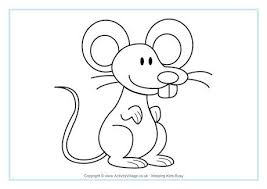 coloring delightful coloring mouse colouring 460 0
