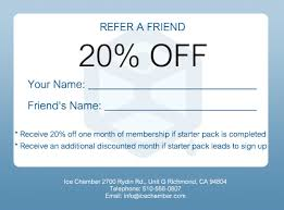 discount referral program ice chamber