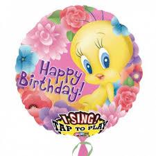 singing balloon magicballons birthday party tweety singing balloon