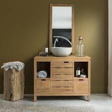 teak bathroom washstand sale serena solo furniture tikamoon