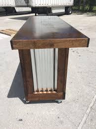 Mobile Reception Desk The Provincial 6 Foot Mobile Corrugated Metal Bar Sales Counter