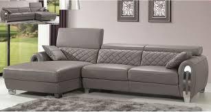 Grey Leather Sectional Sofa Italian Gray Leather Sectional Sofa Modern Design Modern