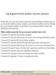 Government Sample Resume Top 8 Government Auditor Resume Samples 1 638 Jpg Cb U003d1432789794