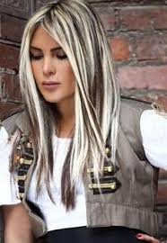 short styles for grey hair streaked heavy platinum highlights with rich chocolate brown lowlights no