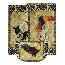 Rooster Area Rug Mohawk Home New Wave 3 Piece Kitchen Rug Set Bergerac Rooster Area