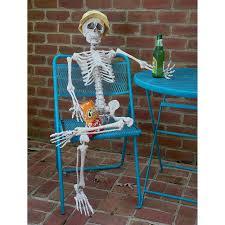 prextex tall posable halloween skeleton full body halloween