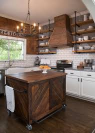 furniture dark wood kitchen island on wheels with floating wall