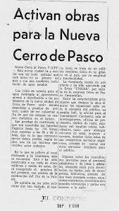 cerro de pasco noticias de cerro de pasco diario correo activan obras para la nueva cerro de pasco la ultima reyna