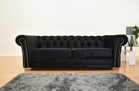 Chesterfield Sofa Suite Chesterfield Velvet Sofa Suite Black The Furniture Brand