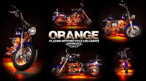 led strip lights for motorcycles ledglow orange classic motorcycle led lighting kit youtube
