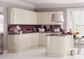 high gloss grey kitchen cabinets kitchen crafters details about high gloss cream handleless replacement kitchen doors