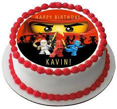 ninjago cake toppers lego ninjago 2 edible birthday cake or cupcake topper edible