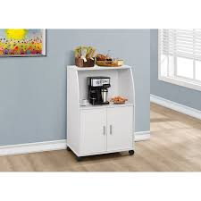 Kitchen Cart With Drawers by Catskill Craftsmen Hutch Top Cart With Enclosed Storage Microwave