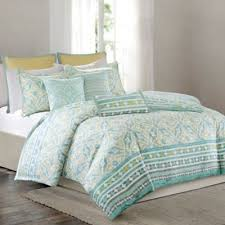 Echo Bedding Sets Echo Lagos Duvet Cover Set In Aqua Yellow Duvet Master Bedroom
