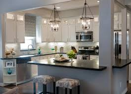 beautiful white cabinets black countertops backsplash subway tiles