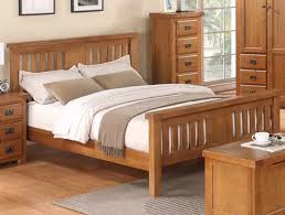 Oak Bed Frame Annaghmore Harvest Rustic Darker Oak Bed Frame Buy At