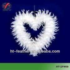 factory wholesale indoor feather heart christmas wreath buy