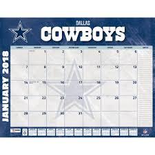 desk pad calendar 2018 dallas cowboys 2018 desk pad 9781469350899 calendars com