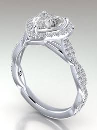 diamond shaped rings images Intertwined micro pav heart shape diamond engagement ring heart png