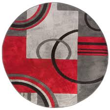 Modern Circular Rugs Well Woven Ruby Galaxy Waves Grey 5 Ft 3 In X 5 Ft 3 In