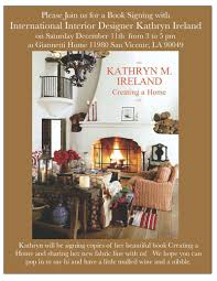 house design books ireland kathryn ireland book signing update velvet u0026 linen