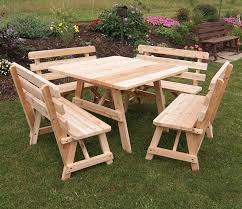 Plans For Building A Picnic Table With Separate Benches by 31 Alluring Picnic Table Ideas