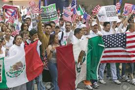 Mexicans Flags Nationwide Rally March Protest In Urgent Fight To Protect