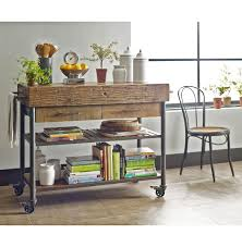 Reclaimed Kitchen Island by Kershaw Rustic Chunky Reclaimed Wood Iron Double Drawer Kitchen