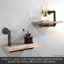 rustic metal shelves rustic industrial diy pipe shelf storage vintage wooden floating