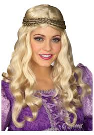 blonde wig halloween costume ladies blonde renaissance wig renaissance accessories halloween